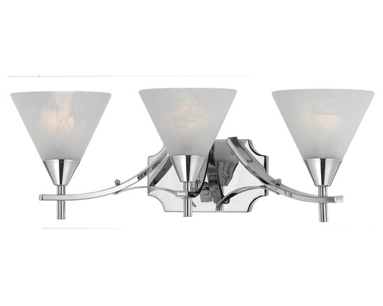 Triarch International - Triarch 33320/3 Value Series Chrome Plated 3 Light Vanity - Triarch 33320/3 Value Series Chrome Plated 3 Light Vanity