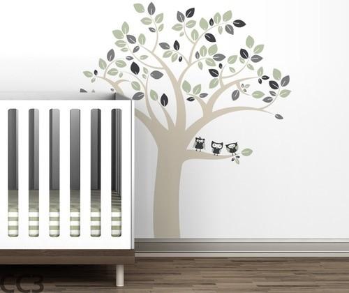 Owl Tree Wall Decal modern-home-decor