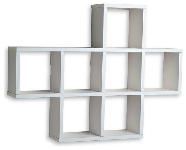 Cubby Laminated Shelving Unit, White - Contemporary - Display And Wall Shelves - by Danya B