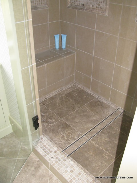 LUXE Tile Insert Linear Drain showers
