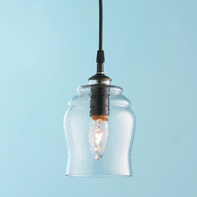 Rustic Bell Glass Pendant