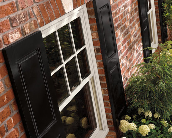Marvin Integrity Double Hung Replacement Windows - Dual operating sash Integrity from Marvin window with Ultrex fiberglass exterior available in 6 colors.  Ultrex is 8 times stronger than vinyl.  Photo by Integrity from Marvin.