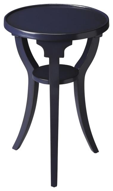 dalton navy round accent table contemporary side tables and end tables by contemporary. Black Bedroom Furniture Sets. Home Design Ideas