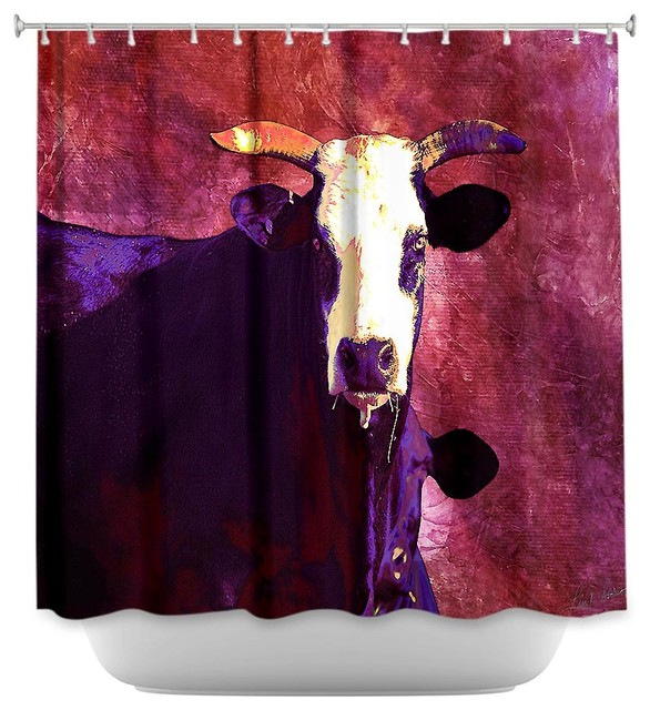 Shower Curtain Artistic Holy Cow Contemporary Shower Curtains