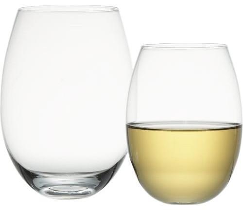 stemless wine glasses modern wine glasses by cb2