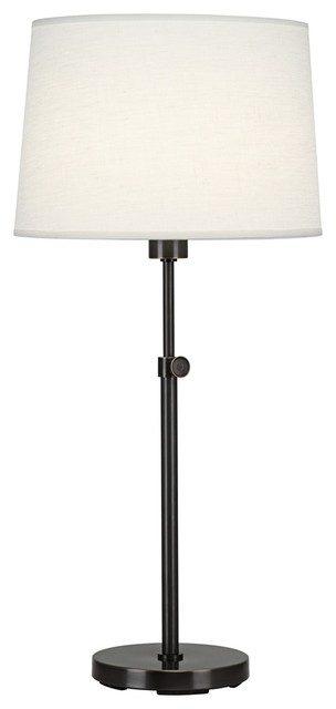 Contemporary Robert Abbey Koleman Adjustable Deep Bronze Club Table Lamp contemporary table lamps