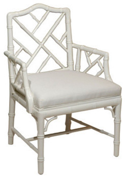 Custom Chippendale Arm Chair traditional-armchairs-and-accent-chairs