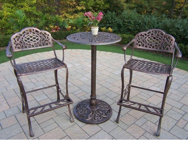 Oakland Living Dining Furniture Mississippi 3 Piece Patio Bar Set 2008 Ab Contemporary Patio