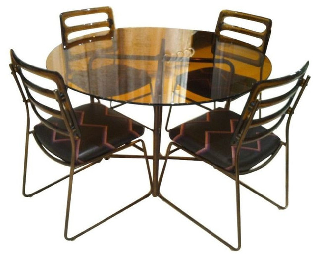 SOLD OUT! Vintage Glass Table and Acrylic Chairs - $1,400 Est. Retail - $400 on contemporary-dining-sets
