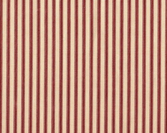 Close to Custom Linens - Rectangle Pillow Ticking Stripe Crimson Red - Add a 17-by-12 rectangular pillow to the center of your sofa for a classic accent piece. The timeless combination of red and cream ticking stripe will complement other traditional floral patterns and solids beautifully. It's a charming addition to your seating.
