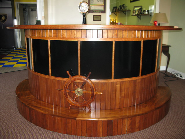 Custom Made Boat Bar Tropical Indoor Pub And Bistro Tables Cleveland By Custom Storage