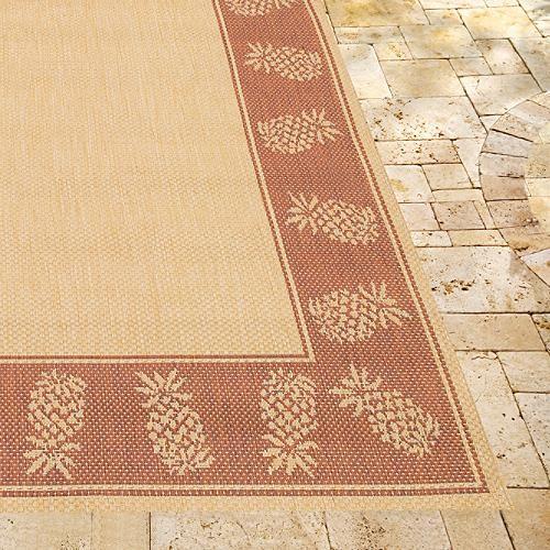 Oasis Retreat Outdoor Rug in Brown & Terra Cotta traditional-doormats