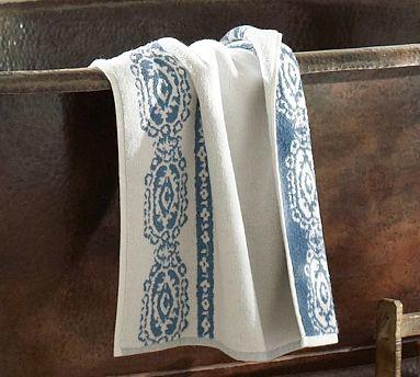"Lori Paisley Bath Mat, 27 x 45"", Blue traditional-bath-mats"