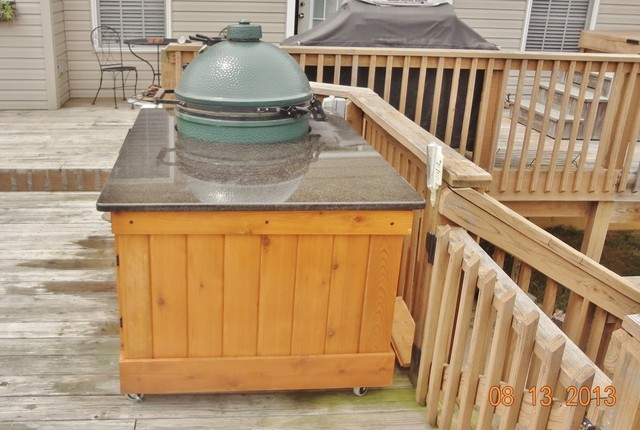Big Green Egg Table -- The Big Dugan traditional-outdoor-dining-tables