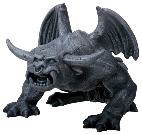 Bull Horned Gargoyle - Collectible Figurine Statue Sculpture Figure traditional-holiday-decorations