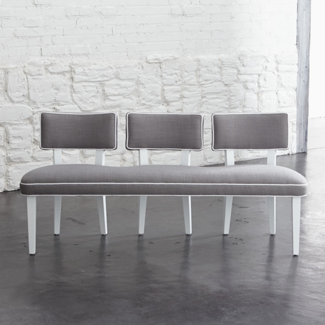 Como Upholstered Side Chair Bench Contemporary Dining