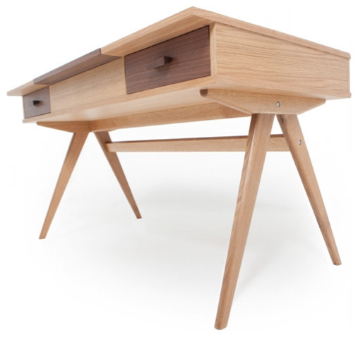 Stroller Desk in Walnut modern-desks-and-hutches