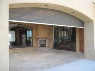 Retractable Screen on Patio traditional-screen-doors