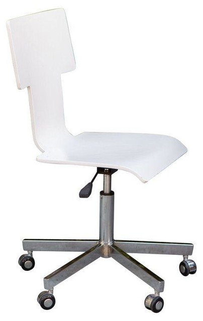 White Rolling Desk Chair Modern Accent Chairs by