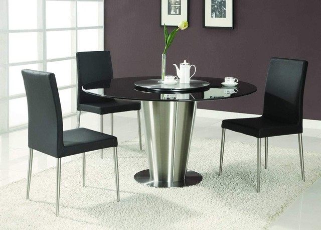 Modern Exclusive Round Marble Top Leather 5 Piece Dining  : modern dining tables from www.houzz.com size 640 x 458 jpeg 65kB