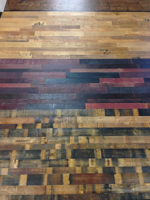 Reclaimed wine barrel flooring for Reclaimed wood flooring seattle