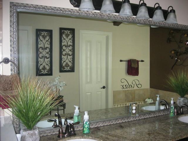 bathroom mirror frame traditional bathroom mirrors