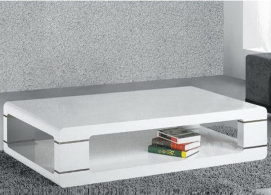 modern coffee table in white lacquer contemporary coffee tables by modern furniture warehouse. Black Bedroom Furniture Sets. Home Design Ideas