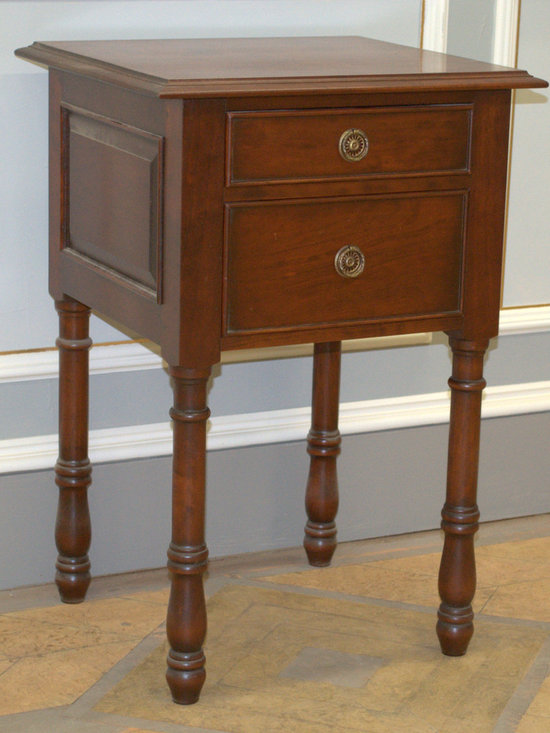 English Tudor Nightstand - Although the simple furnishings of the Tudor era would not have included bedside tables, we designed this compatible nightstand for modern use to flank our handsome Tudor Bed. Use as a pair for added interest in the bedroom.