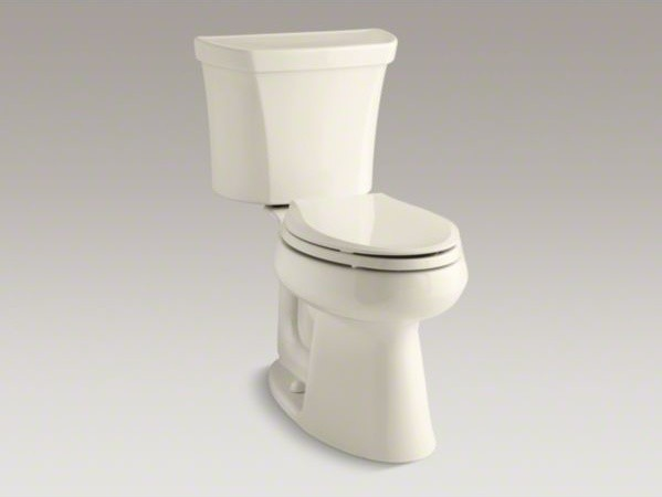 KOHLER Highline(R) Comfort Height(R) two-piece elongated 1.28 gpf toilet with Cl contemporary-toilets
