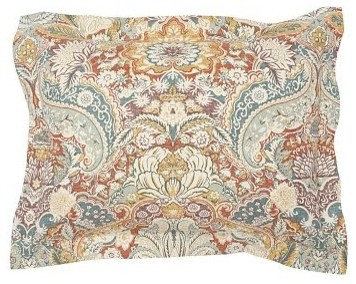 Celeste Damask Sham, Standard, Red - Traditional - Pillowcases And Shams - by Pottery Barn