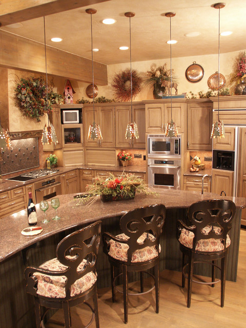 Grand Log & Timber - D&M Designs - Interiors & Blinds traditional kitchen