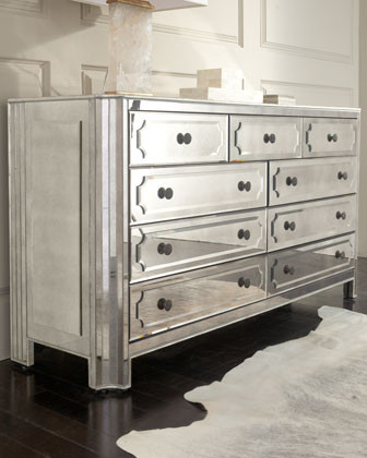 hager mirrored chest traditional dressers by horchow