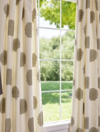 Chrysanthemum Printed Cotton Curtains And Drapes