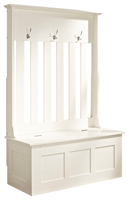 Ogden Entryway Hall Tree White Eclectic Hall Trees By Pot Racks Plus