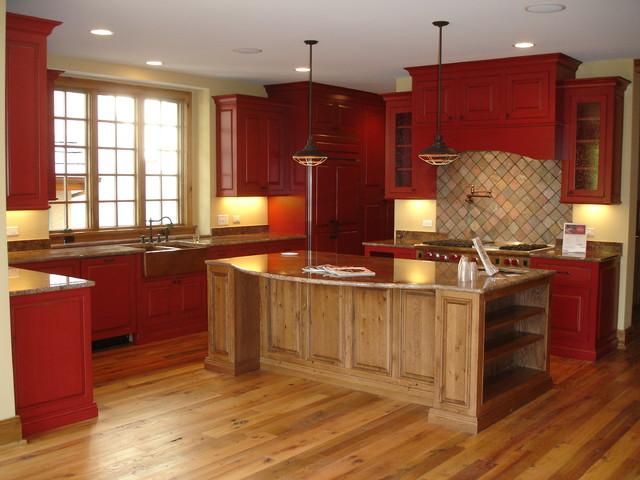 Rutic Wine Color Kitchen
