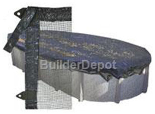 Leaf Guard Cover for 15' x 30' Oval Above Ground Pool modern-hot-tub-and-pool-supplies