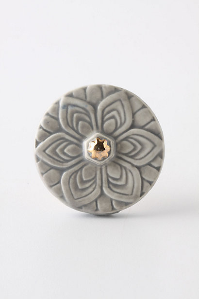 Edwardian Knob, Grey modern knobs