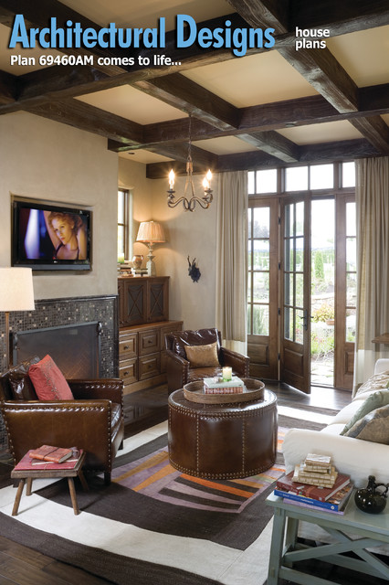 Plan 69460AM - Energy Efficient French Country Design traditional-family-room