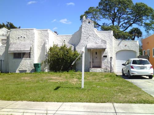 Please give exterior paint ideas for Mission Spanish Revival bungalow
