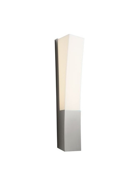 Oxygen Lighting - Oxygen Lighting | Crescent LED Wall Sconce - Design by Oxygen Lighting. The Crescent LED Wall Sconce combines a steel structure with a white acrylic diffuser to create a modern wall light that adds simple, elegant style to a variety of home decors. When illuminated, this lighting fixture provides diffused, ambient illumination perfect for use in hallways, bathrooms, bedrooms, dining rooms, and living room spaces.  Product Features: