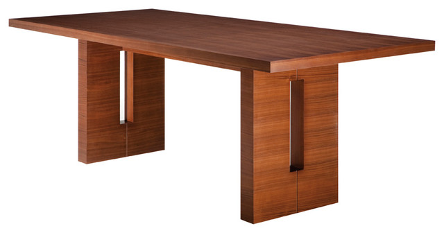 Rectangular Dining Table Tan Walnut Large Modern Dining Tables