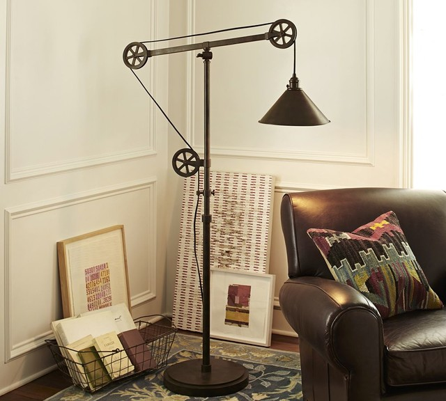 Warren Pulley Task Floor Lamp Traditional Floor Lamps