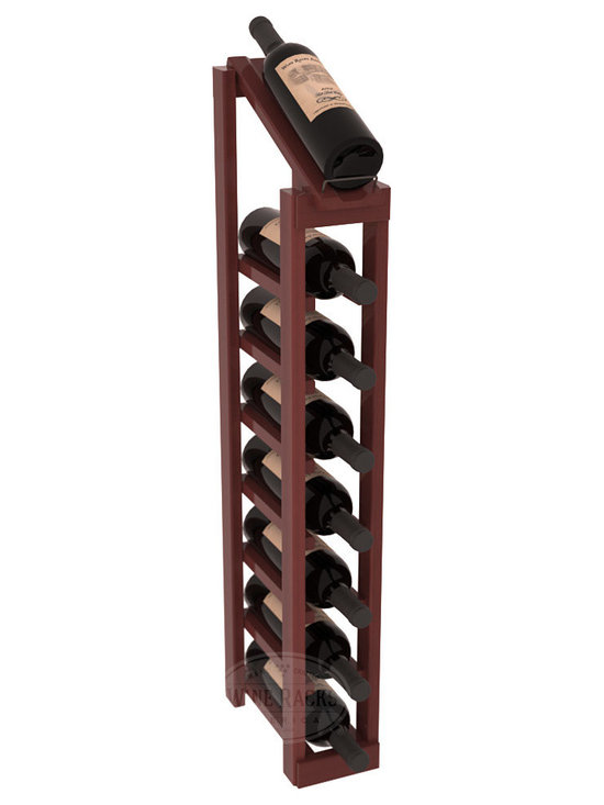 Wine Racks America - 1 Column 8 Row Display Top Kit in Redwood, Cherry Stain + Satin Finish - Make your best vintage the focal point of your cellar or store. The slim design is a perfect fit for almost any space. Our wine cellar kits are constructed to industry-leading standards. You'll be satisfied. We guarantee it. Display top wine racks are perfect for commercial or residential environments.
