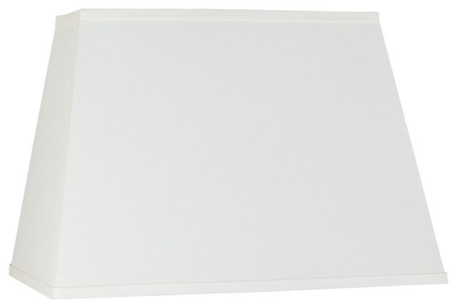 contemporary ivory linen rectangular shade 14x18x12. Black Bedroom Furniture Sets. Home Design Ideas