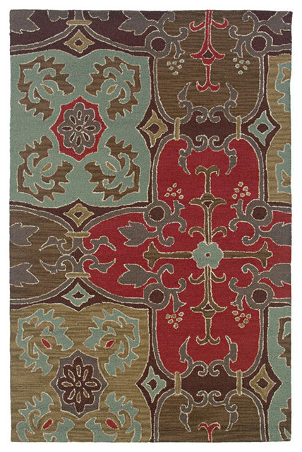 Rizzy Home Coffee Gothic Area Rug Contemporary Rugs