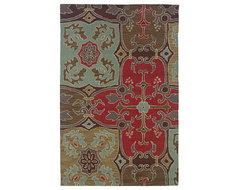 Rizzy Home Coffee Gothic Area Rug contemporary-rugs