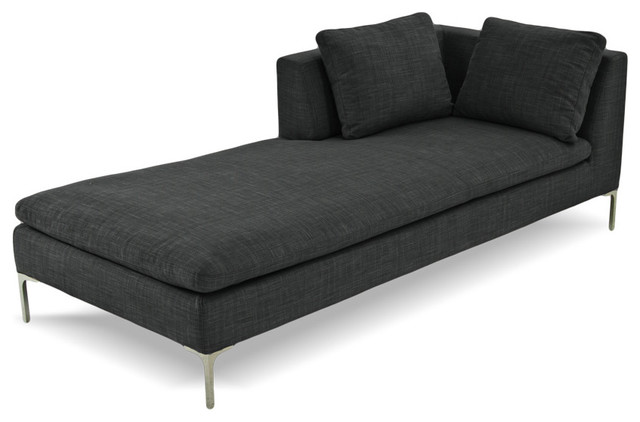 Chaise Lounge Dark Grey R Modern Indoor Chaise Lounge Chairs