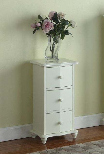 White Wood 3-drawer Cabinet Chest - Contemporary - Kitchen Cabinetry ...