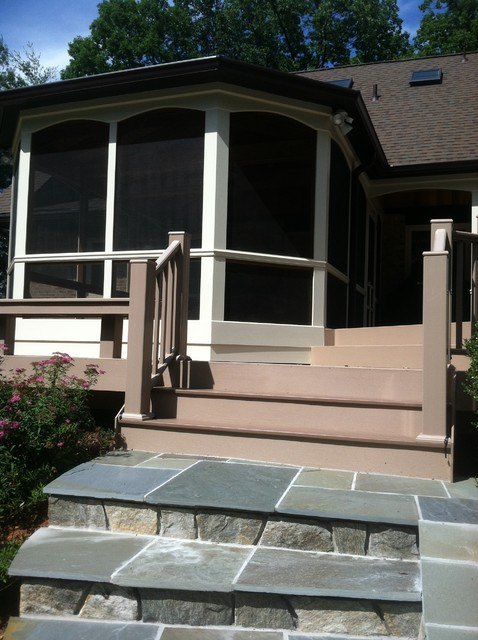 NDW's porch / deck project traditional
