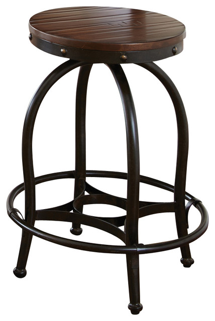 Steve Silver Winston Counter Stool In Rustic Medium Cherry
